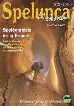 Spéléométrie de la France